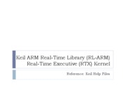 Chapter6 RL-ARM Real-Time Executive (RTX)