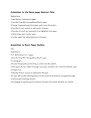 Guidelines-TermPaper-Report