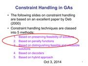 10-3--14 handout Constrained GA and continue Comparison