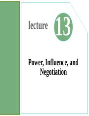 Lecture13- Power, Influence and Negotiation.ppt