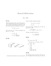 HW 4 solutions (Ch 27)