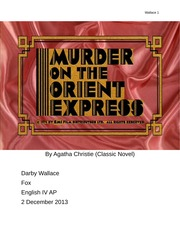 Murder on the Orient Express by Agatha Christie Reading Project