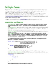 Homework C# style guide