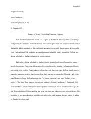10th English Essay Summer Assignment