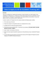 How-to-Receive-IIE-Approval-for-Academic-Training
