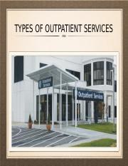 Type of outpatient services