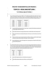 FOF Topic 6 Tutorial Questions