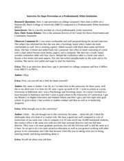 Second Interview Transcription for Rape Culture Research Proposal