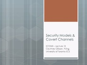 18 - Security Models and Covert Channels
