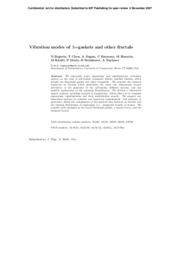 Vibration Modes of 3n-gaskets and other fractals