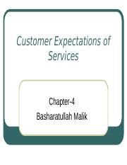 4 Services-Customer Expectations  Ch-4.ppt