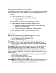 Preparing for in-class writing - Verbs review