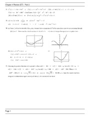 Chapter 4 Review Part 2 Solutions