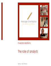 The role of analysts.pdf
