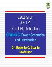 Chapter 3-Power Generation and Distribution