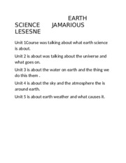 EARTH SCIENCE    JAMARIOUS LESESNE.docx