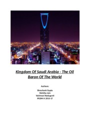 Kingdom of Saudi Arabia- The Oil Baron Of The World_Final (1).docx