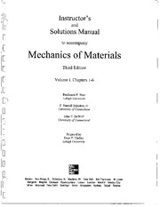 Mechanics of Materials - Table of Contents