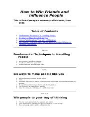 How to Win Friends_DaleCarnegie(Summary)_0.doc