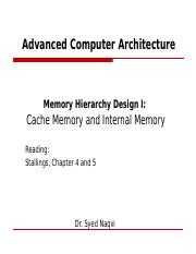 Week 5 Memory System Hierarchy 2 Ppt Advanced Computer Architecture Memory Hierarchy Design Ii Cache Optimization And Virtual Memory Reading Course Hero