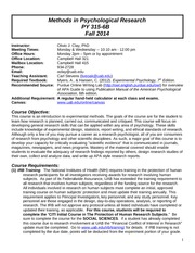 Clay Syllabus PY 315-6B Fall 2014