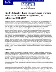 1 Fixed Obstructive Lung Disease Among Workers in Flavor-Manufacturing Industry