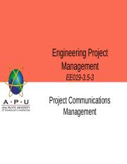 EPM - L7 - Project Communications Management