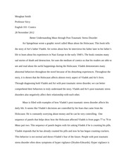 Essay 2 - Maus- 2nd Try