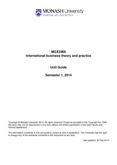 MGX5966 Unit Outline Sem 1 2014