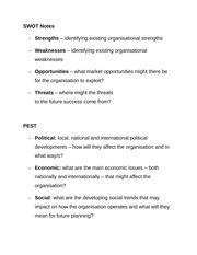 SWOT Notes
