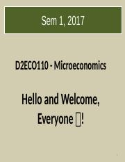 T1 Introduction to   Microeconomics