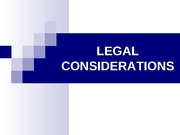 Legal Considerations.111