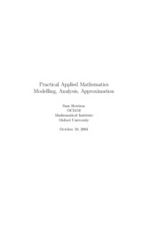 Oxford University 2005 Practical Applied Mathematics