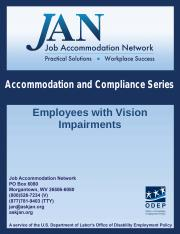 Accomodation and Compliance Series_Employees with Vision Impairments