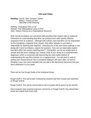 Analytical film essay example