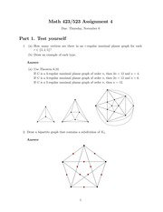 MATH 423 Fall 2014 Assignment 4 Solutions