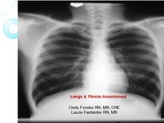 Lecture 3-Lungs and Thorax Assessment