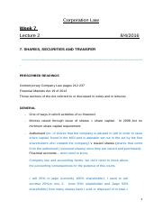 Shares, Securities and Transfer..docx