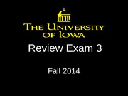 Review Exam 3