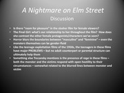 A Nighmare on Elm Street Lecture Slides