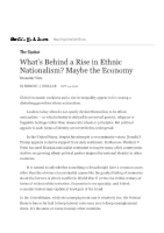 What's Behind a Rise in Ethnic Nationalism_ Maybe the Economy - The New York Times.pdf