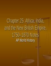APWH - Ch  24 PPT ppt - Chapter 25 Africa India and the New British