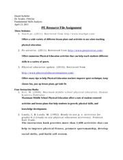 PE Resource File Assignment