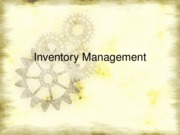 Ch 12 inventory management