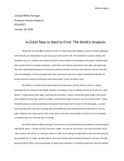 Final Draft A good man is hard to find character analysis