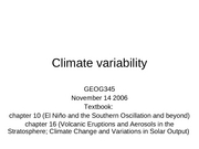 19 Climate Variability