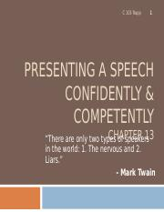 C 103 Ch 13, presenting confidently(1) (1).ppt