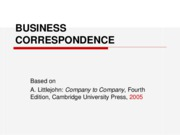 BUSINESS CORRESPONDENCE 1 short 1011