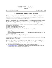 Lecture Notes E on Operating Systems