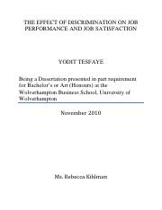 THE EFFECT OF DISCRIMINATION ON JOB PERFORMANCE AND JOB SATISFACTION .pdf